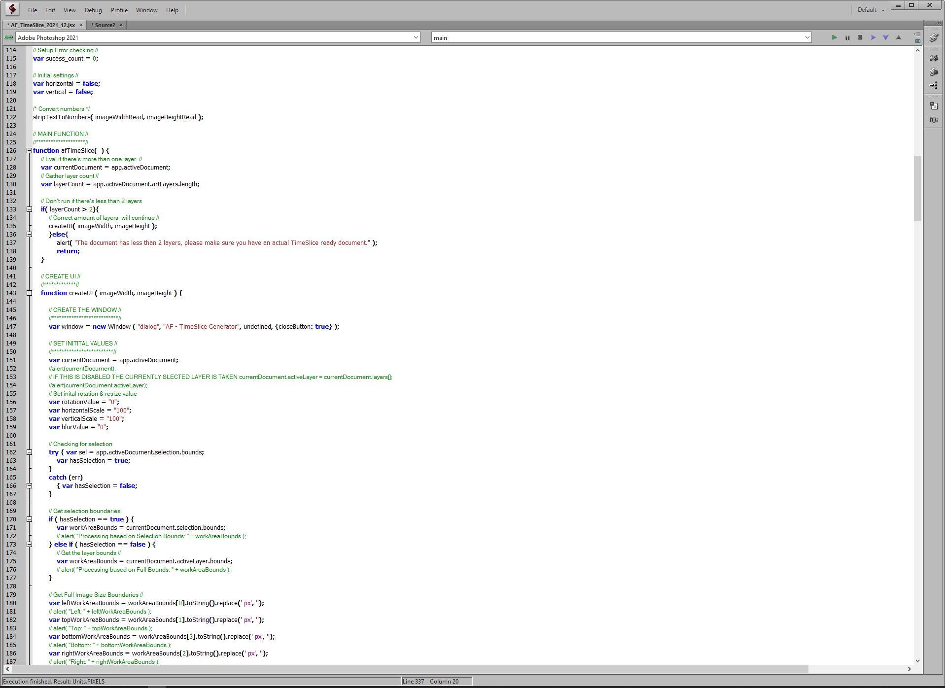TimeSlice-Script - Scripting